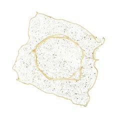 Pañuelo-bolsa cuadrado 23x23cm lurex oro, min.24