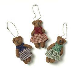 Key chain mini female bears assorted.