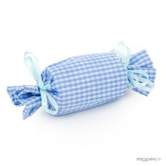 Bolsa caramelo vichy azul cielo 11,5x3,5cm. min.12 P.GOLOSO