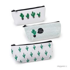 Sac multi-usage cactus 3 assortis 20x8x3cm