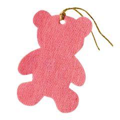 Colgante textil decorativo osito rosa,8cm. min.6
