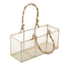Rafia basket 20x9x7,5cm.