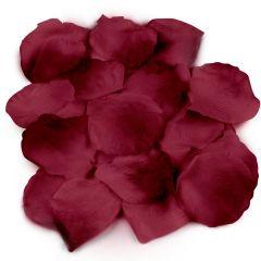Pétalos de rosa granates, precio x bolsa de 144u.