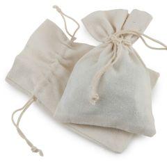 Bolsa algodón marfil 10x14cm. min.12