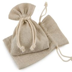 Bolsa algodón beige 10,5x14,5cm., min.12
