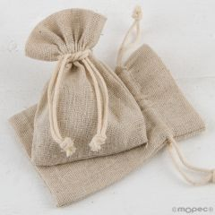 Bolsa algodón beige7,5x10cm., min.12