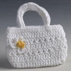 Vaschetta uncinetto bianca margherita 6,3x7,5cm
