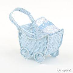 Cochecito rejilla azul Baby