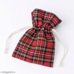 Scottish cotton bag 10x14cm