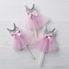 Pic bailarina gris-rosa, 14cm. min.5
