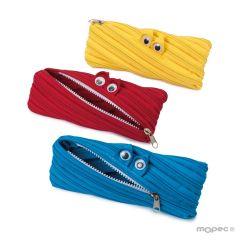 Zipper monster pencil case 3 assorted
