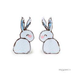 Felt blue rabbit peg 6,6cm.