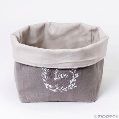 Panera de algodón gris Love