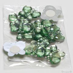 Pegatina mariposa cristal verde