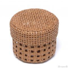 Boîte ronde avec grille