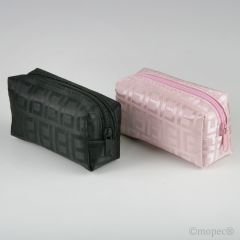 Bolsita cremallera rosa/negro 5,5x10x4cm., min.6