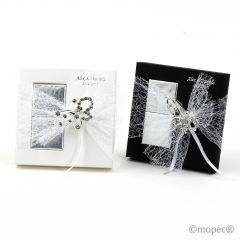 Broche mariposa 2napolitanas caja negra/blanca min.2