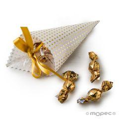 Cono topos dorados 5croki-choc min.12
