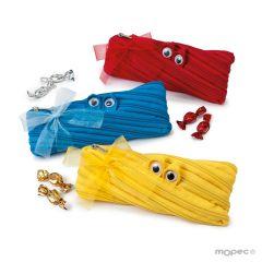 Zipper monster pencil case 15 minifruits 3 assorted