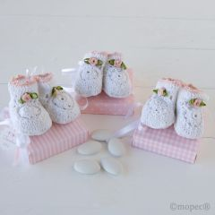 Cajas rosa top/ray/cuad Botitas, stda. 5 pel.choc., min.3