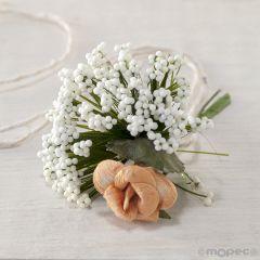 Bouquet floral con gypsophila para I150 stdo.min.12