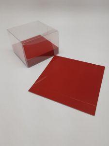Base cartocino rosso lucido 10x2x10cm