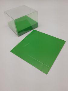 Base carton brillant vert 10x2x10cm