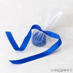 Adorno 1bombón azul, lazo azul ,min.6*