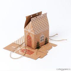 Boîte maison de pain d'épice de Noël 7x10,5x5cm.