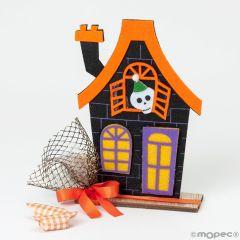 Maison de feutre d'Halloween avec 5 bonbons