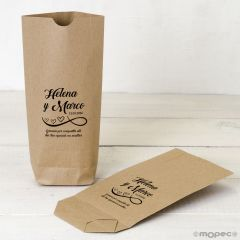 Bolsa Kraft Gracias por compartir corazón 12x22,5cm. min.25