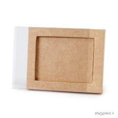 Caja kraft+funda transp. 14x18x1,7cm min25