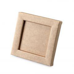 Caja marco kraft 10x10x1,5cm min25