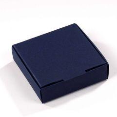 Box squared royal blue 6x6x1,5cm