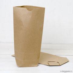 Pack 50 bolsa papel kraft con base 18x32X7cm.