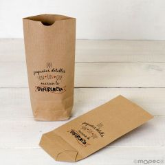 Kraft bag Marcan la diferencia, red  available in other languages