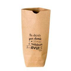 Bolsa Kraft No deixis per demà,negro 12x22,5cm. min.25