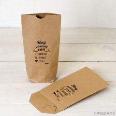 Kraft bag Hoy Pasaran cosas, black 12x22,5cm