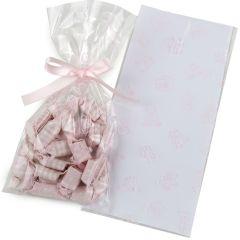 Pink bear bag 12x25cm 100uds