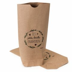 Kraft bag Detalles enamoran, black 12x22,5cm