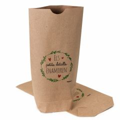 Kraft bag Detalles enamoran, red 12x22,5cm