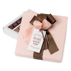 Scatola 30 cioccolatini Amore della mamma 20x20x3cm.