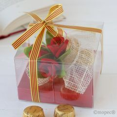 Caja 4bombones rosas Sant Jordi*