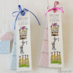 BARCELONA bookmark with 4 neapolitans asstd.