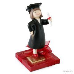 Figura graduación chica 8 napolitanas