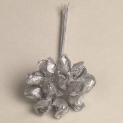Flor plateada pomo 12, min.12 pomos