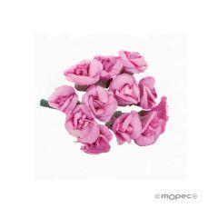 Rositas papel rosa , precio x pomo de 12u.