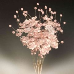 Ramito flor con perlitas rosa min.12