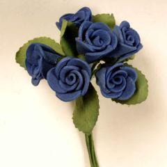 Foam roses royal blue bunch 6