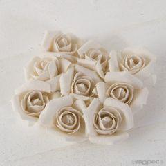 Rosa de lino en marfil (precio x bolsa de 9)
